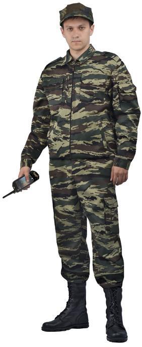 Костюм охранника мужской  Контрол , камуфляж летний зелёный вихрь - артикул: 523020248