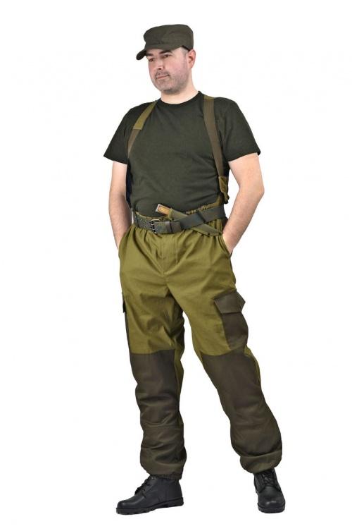 Брюки мужские  Горка 3  летние палатка хаки 100% хлопок - артикул: 669930349