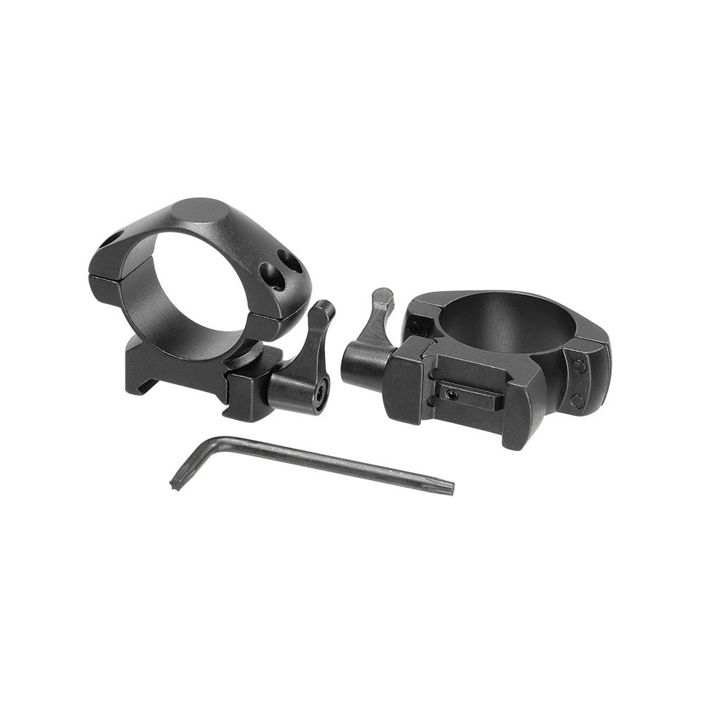 Кольца для прицела Veber E 3021 QM Weaver быстросъёмные, Прицелы и дальномеры - арт. 1002320442