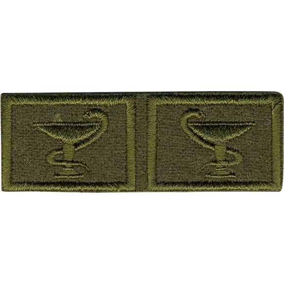 Купить Эмблема петличная Медицинская служба нового образца полевая выши, Министерство обороны