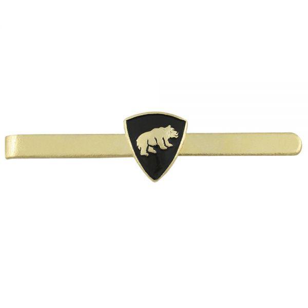 Зажим для галстука с эмблемой Медведь металл
